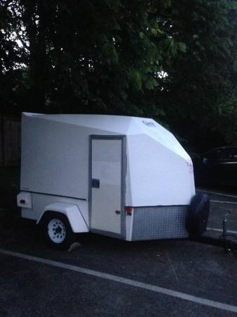 Fiberglass Enclosed Motorcycle Trailer 2950 Lexington