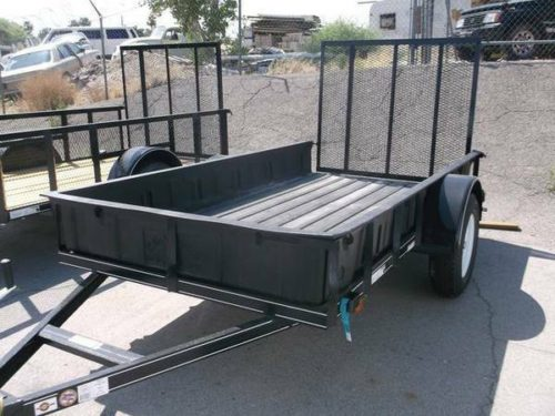 5x10 utility trailer with 3500 lb axle and 15 tires for 5x10 wood floor trailer