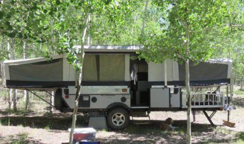 Fleetwood E3 Toy Hauler Folding Pop Up Tent Trailer