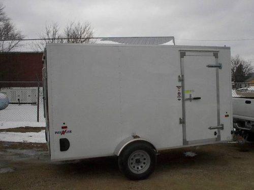 2016 Enclosed All Aluminum Frame Cargo Trailer 6x12