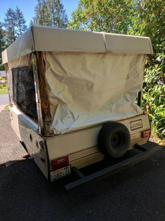 1984 Coleman Tent Trailer 300 Seattle Motorcycle