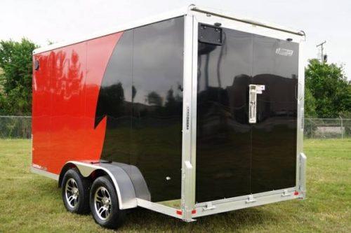 Aluminum Atv Ramps >> 7 X 14 V-Nose Aluminum Enclosed UTV ATV Motorcycle Cargo Trailer - $6995 (Complete Trailers of ...