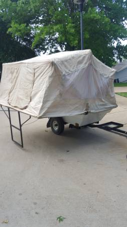Motorcycle Camper Trailer Pull Behind Your Bike Pop Up
