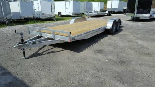 2018 Stealth Phantom 7 X 20 Aluminum Flatbed Trailer Car