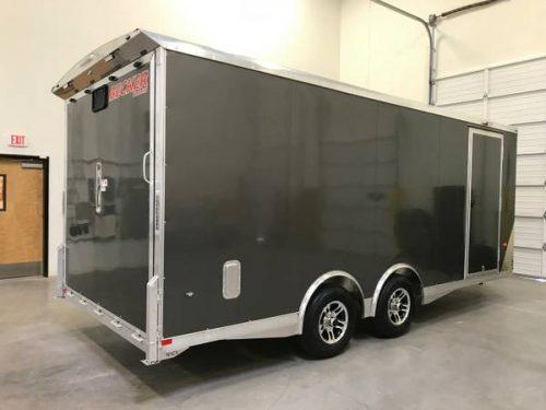 New 20 39 Aluminum Enclosed Utv Car Hauler Trailer Premium Escape Door 15995 Motorcycle Trailer