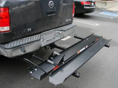 Trailer Hitch Motorcycle Carrier >> New Heavy Duty 600lb Capacity Motorcycle Hauler For Transporting - $229 | Motorcycle Trailer