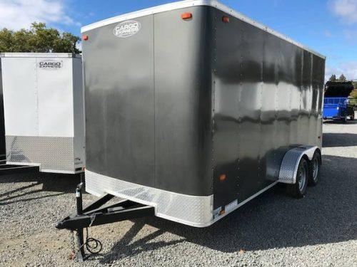 7'x16' Enclosed Trailer w/ Rear Ramp ...
