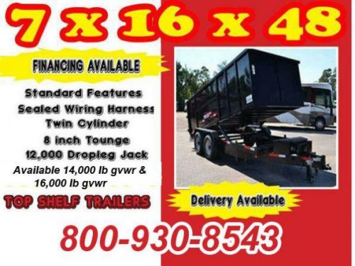 2018 dump trailer 7 x 14 or 16 x 48 commercial trailers – $7995
